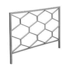 BED - QUEEN OR FULL SIZE SILVER HEADBOARD OR FOOTBOARD