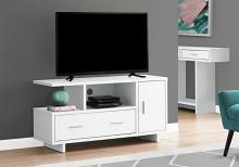 "Tv Stand - 48""L / White With Storage"