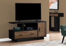 "Tv Stand - 48""L / Black / Brown Reclaimed Wood-Look"