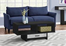 Coffee Table - Black / Grey Reclaimed Wood-Look
