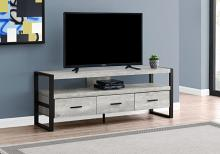 "Tv Stand - 60""L / Grey Reclaimed Wood-Look / 3 Drawers"