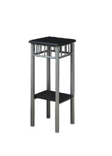 ACCENT TABLE - BLACK SILVER METAL