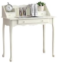 "Desk - 36""L / Antique White Traditional"
