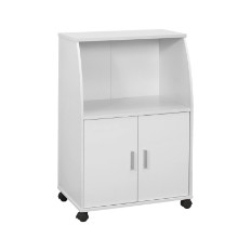 "Kitchen Cart - 33""H / White On Castors"