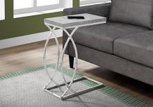 ACCENT TABLE - GREY CEMENT WITH CHROME METAL