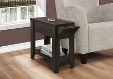"Accent Table - 23""H / Cappuccino With A Glass Holder"