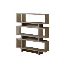 """Bookcase - 55""""H / Dark Taupe Modern Style"""