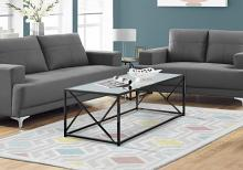 Coffee Table - Black Nickel Metal / Mirror Top