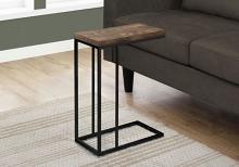 ACCENT TABLE - BROWN RECLAIMED WOOD-LOOK / BLACK METAL
