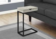 Accent Table - Grey Reclaimed Wood-Look / Black / Drawer
