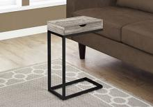 Accent Table - Taupe Reclaimed Wood-Look / Black / Drawer