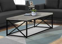 Coffee Table - Grey Reclaimed Wood-Look/ Black Metal