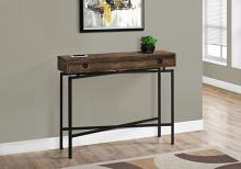 "Accent Table - 42""L / Brown Reclaimed Wood/ Black Console"