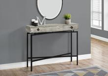 "Accent Table - 42""L / Grey Reclaimed Wood / Black Console"