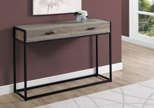 "Accent Table - 48""L / Dark Taupe / Black Hall Console"
