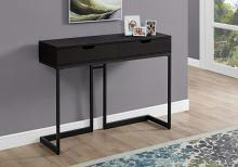 "Accent Table - 42""L / Cappuccino / Black Hall Console"