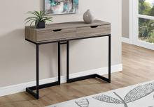 "Accent Table - 42""L / Dark Taupe / Black Hall Console"