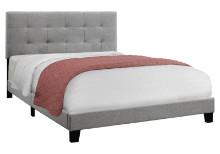 BED - QUEEN SIZE GREY LINEN