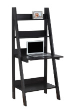 "Computer Desk - 61""H / Cappuccino Ladder Style"
