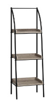 "Bookcase - 48""H / Dark Taupe / Black Metal"
