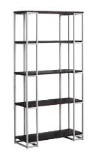 """Bookcase - 60""""H / Cappuccino / Silver Metal"""