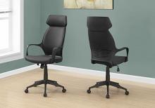 Office Chair - Black Microfiber / High Back Executive