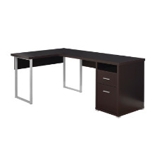 "Computer Desk - 80""L / Cappuccino Left Or Right Facing"