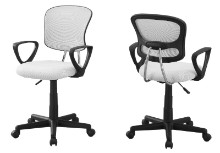OFFICE CHAIR - WHITE MESH JUVENILE MULTI-POSITION