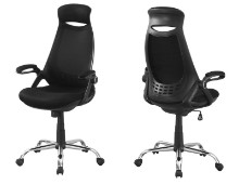 Office Chair - Black Mesh / Chrome High-Back Executive
