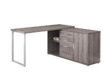"COMPUTER DESK - 60""L DARK TAUPE LEFT OR RIGHT FACING"