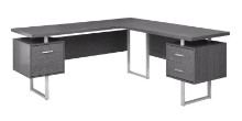 "COMPUTER DESK - 70""L GREY LEFT OR RIGHT FACING"