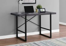 "Computer Desk - 48""L / Grey / Black Metal"