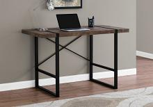 "Computer Desk - 48""L / Brown Reclaimed Wood / Black Metal"