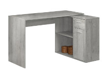 """COMPUTER DESK - 46""""L GREY WITH A STORAGE CABINET"""