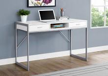 "Computer Desk - 48""L / White / Silver Metal"