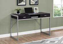 "Computer Desk - 48""L / Cappuccino / Silver Metal"