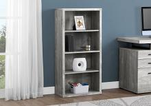 "Bookcase - 48""H / Grey Reclaimed Wood-Look / Adj. Shelves"