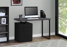 "Computer Desk - 48""L / Black / Grey Top Left/Right Facing"
