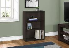 "Bookcase - 36""H / Cappuccino With 3 Shelves"