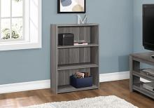 "Bookcase - 36""H / Grey With 3 Shelves"