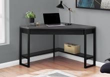 "Computer Desk - 42""L / Black / Grey Top Corner / Black"