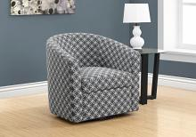 Accent Chair - Swivel / Grey Circular Fabric