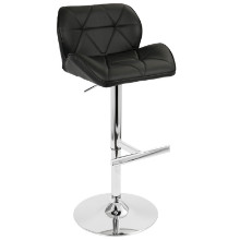 Jubilee Height Adjustable Contemporary Barstool with Swivel in Black