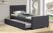K20 Brayden studio davon gray woven fabric twin size bed includes twin size trundle bed