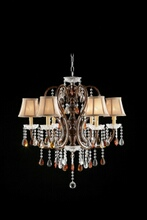 L95113H Christina hanging crystals hanging ceiling lamp with 6 small lamp shades