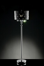 Furniture of america L95120F Christina collection hanging crystals floor lamp with acrylic shade with crystals