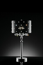 Christina collection hanging crystals table lamp with acrylic shade with crystals