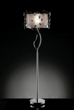 Christina collection twisting leaves motif floor lamp with double shade.
