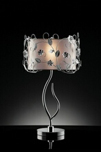 Christina collection twisting leaves motif table lamp with double shade