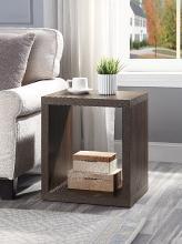 Acme AC00442 Latitude run harel brown finish wood mid century modern square end table